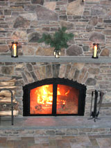 Lifebridge Sanctuary Upper Room fireplace