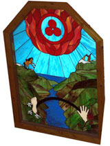 Lifebridge Sanctuary stain glass window